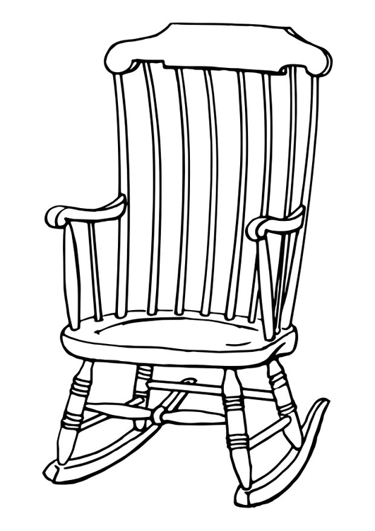 Coloriage Chaise A Bascule Img 30105
