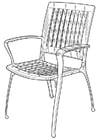 Coloriage chaise de jardin