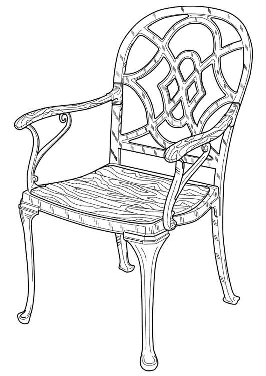 Coloriage chaise img 19101 for Chaise 3d dessin