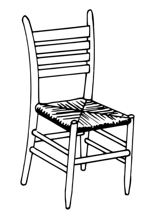 Coloriage chaise img 30112 - Dessin de chaise en perspective ...