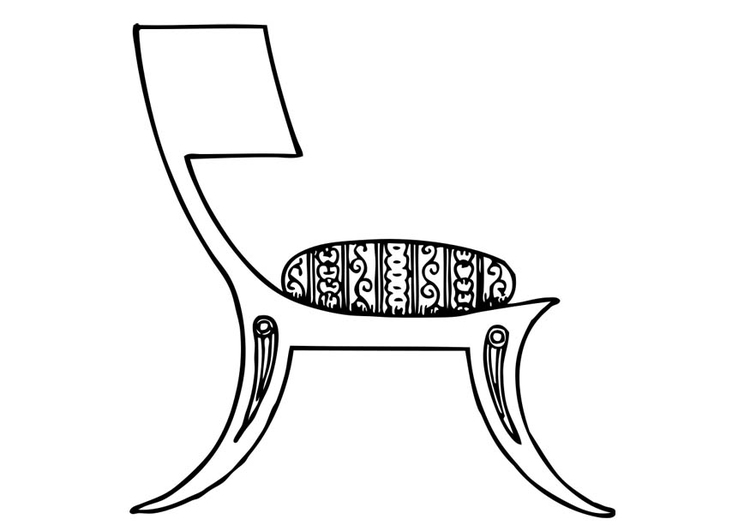 Coloriage chaise Grecque