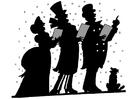 Coloriage chant de Noël