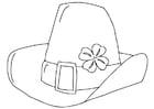 Coloriage chapeau de la fête de la Saint-Patrick