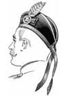 Coloriage chapeau écossais-Glengarry