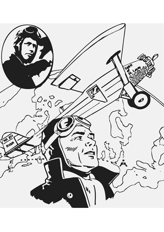 Coloriage Charles Lindbergh