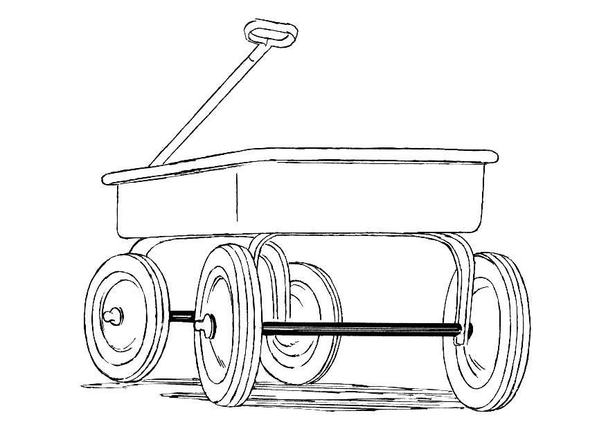 Coloriage charrette img 18810 - Charrette dessin ...