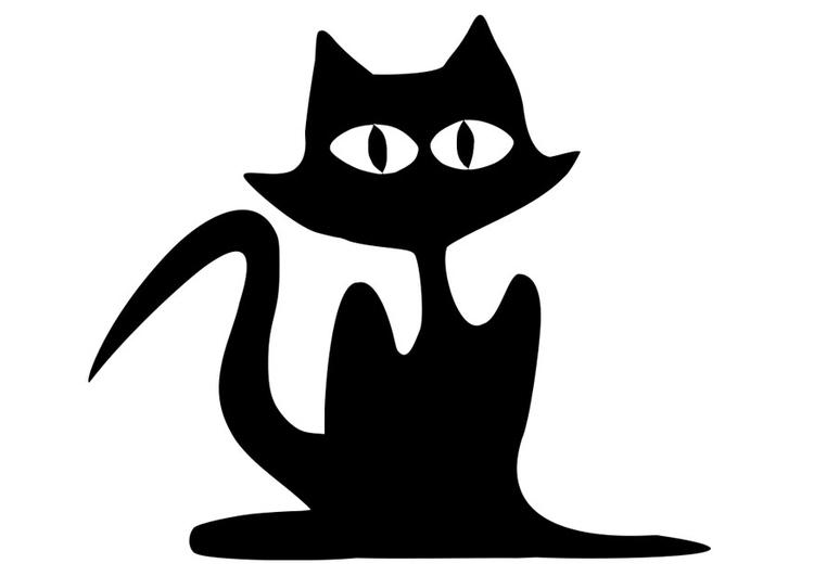Coloriage chat noir - Coloriages Gratuits à Imprimer ...