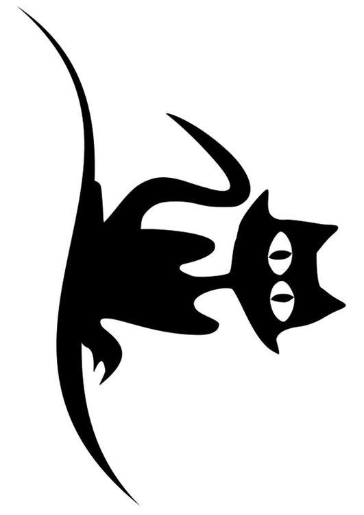 Coloriage chat noir img 19726 - Dessin chat noir ...