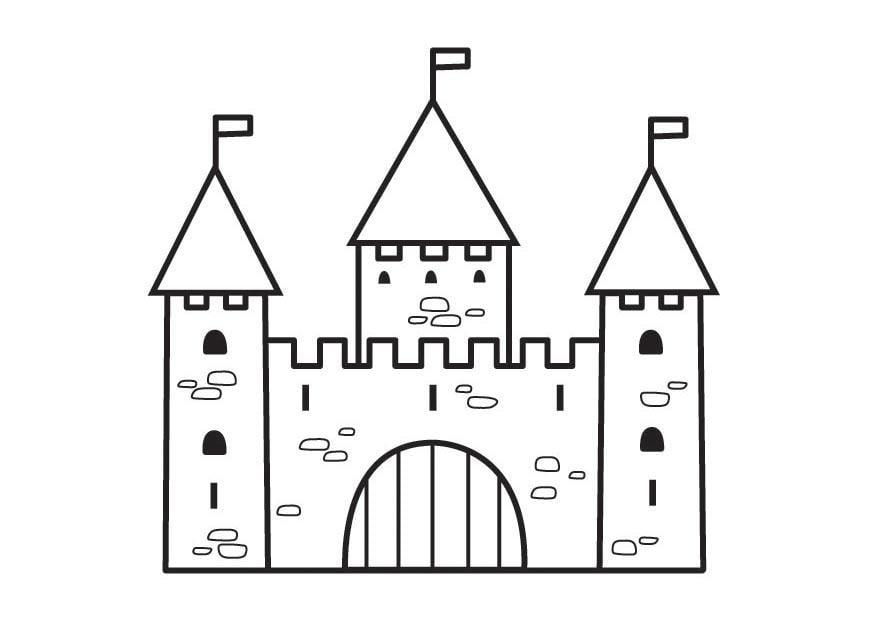 Coloriage ch teau 2 img 23125 - Chateau coloriage ...