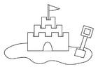 Coloriage château de sable