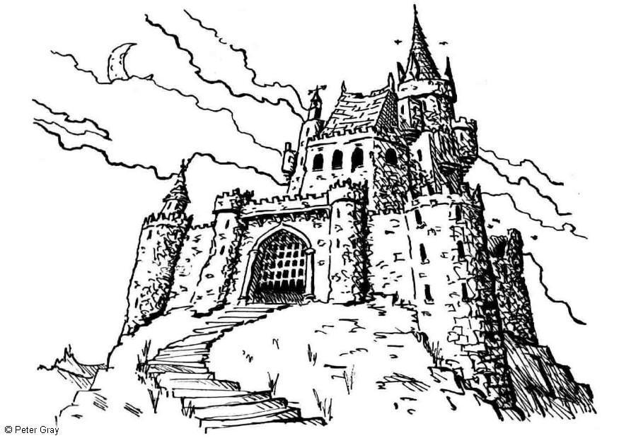 Coloriage château - Coloriages Gratuits à Imprimer