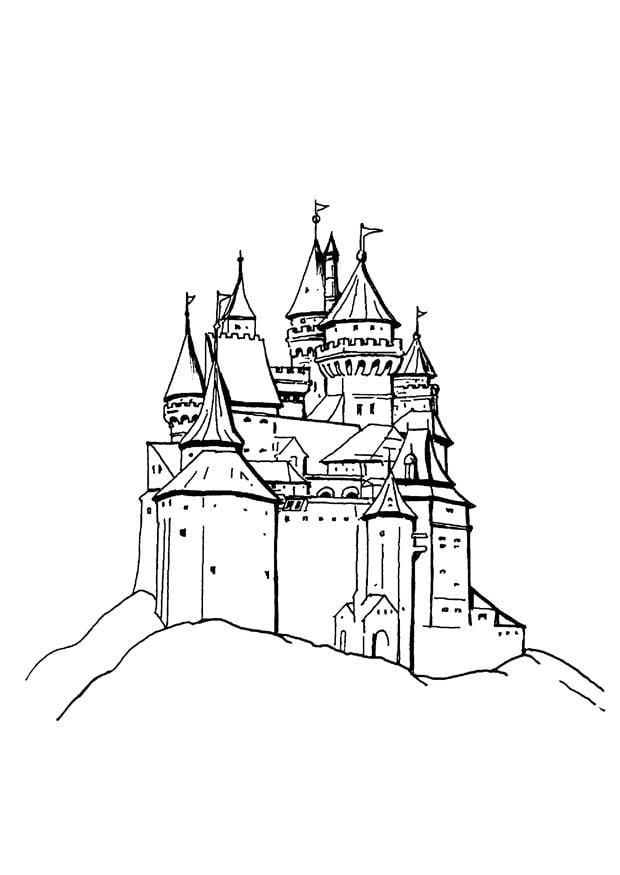 Coloriage Chateau Coloriages Gratuits A Imprimer