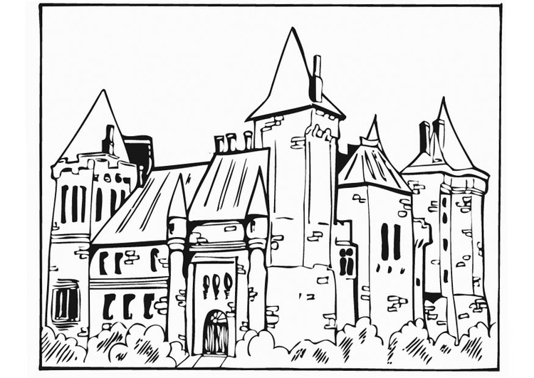 Coloriage ch teau img 12757 - Chateau coloriage ...