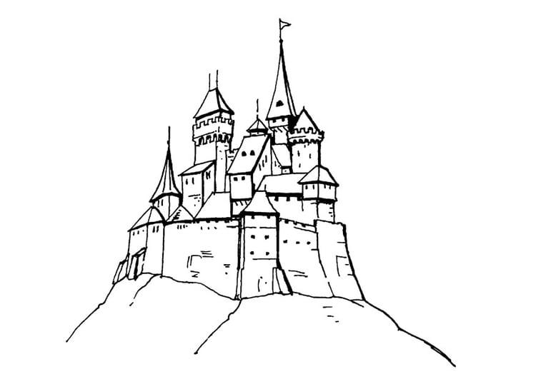Coloriage chateau - Coloriages Gratuits à Imprimer