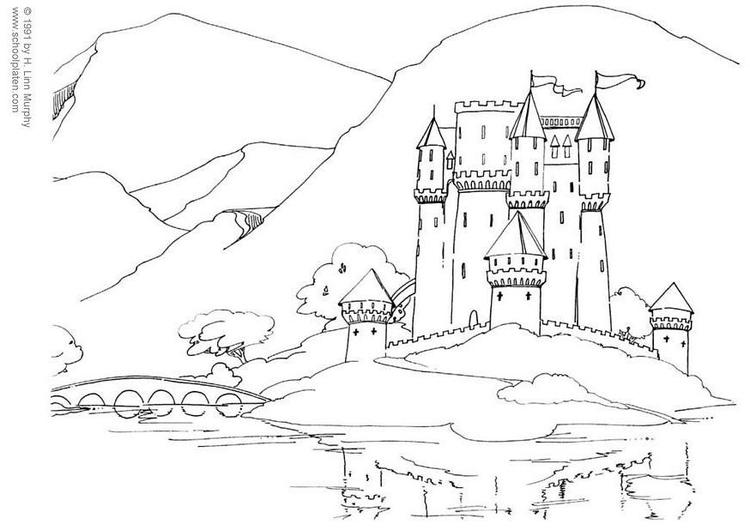 Coloriage Chateau Coloriages Gratuits A Imprimer Dessin 3831