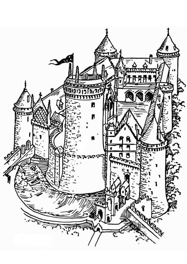 Coloriage ch teau fort img 13292 - Dessin de chateau ...