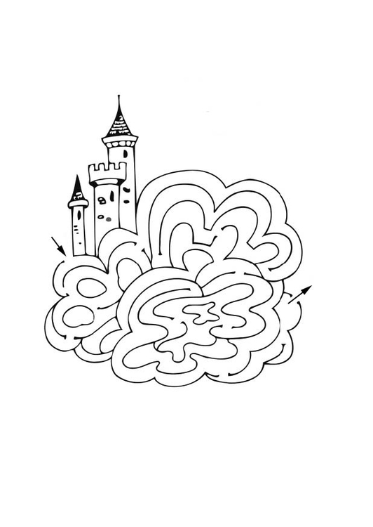 Kleurplaat Frozne Coloriage Chateau Labyrinthe Img 12521