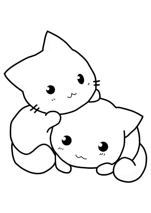 Coloriages chatons - Chaton coloriage ...