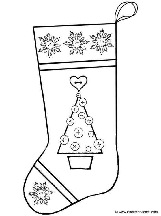coloriage chaussette de noël  coloriages gratuits à
