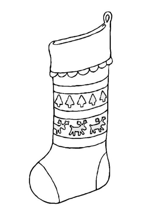 coloriage chaussette de noel i8658