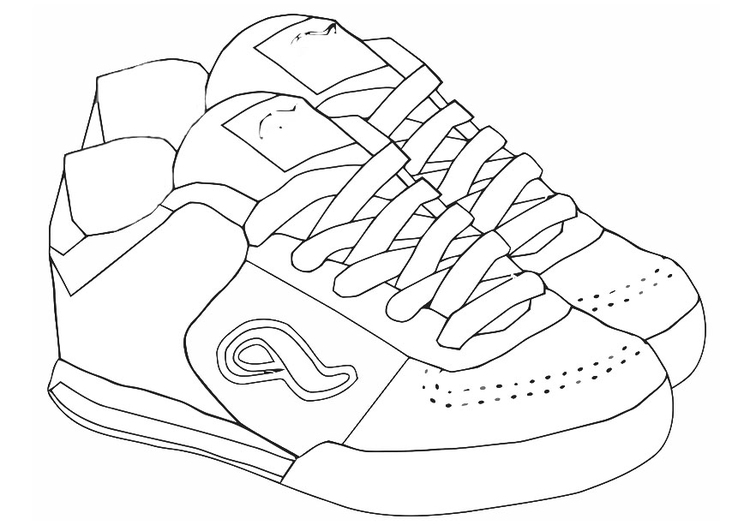 Coloriage chaussures de sport img 19418 images - Dessin basket ...