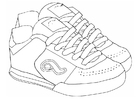 Coloriage chaussures de sport