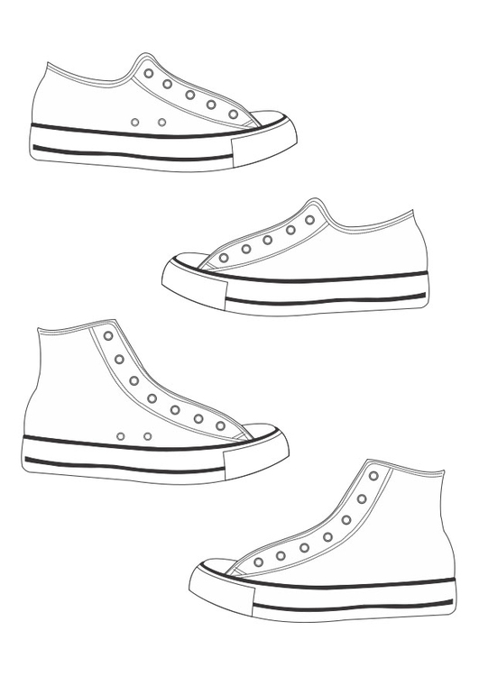 Coloriage chaussures