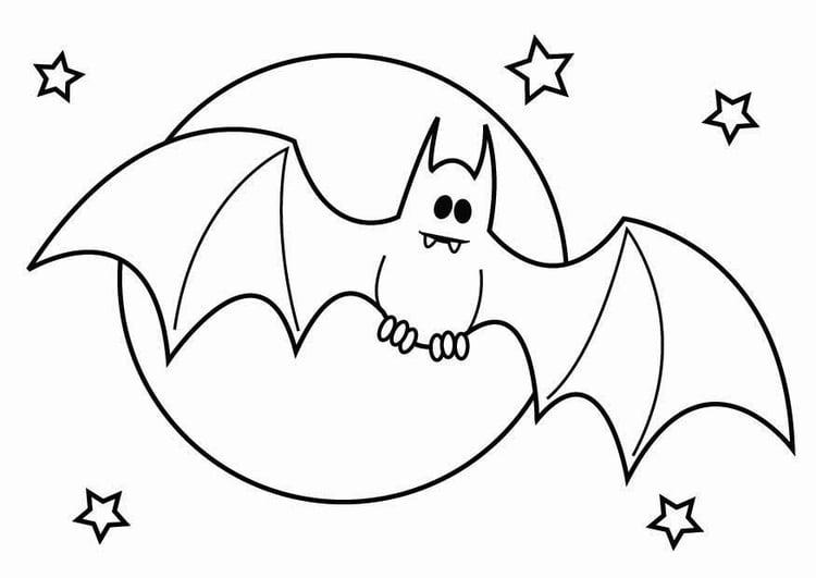 Coloriage Chauve-souris D'Halloween