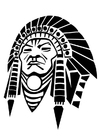 Coloriage chef de tribu