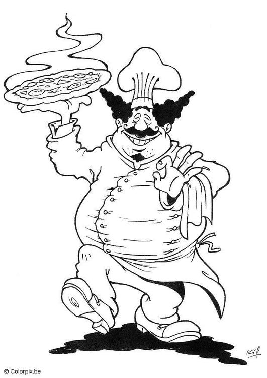 Coloriage cuisinier img 5709 - Cuisinier dessin ...