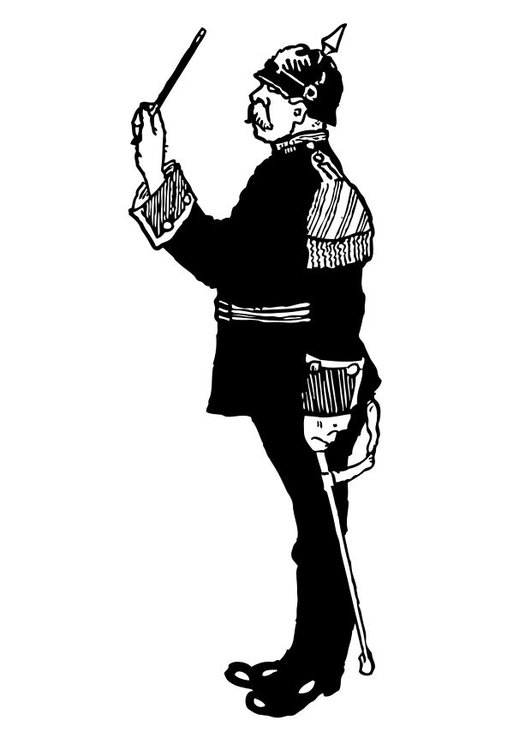Kleurplaat Militair Coloriage Chef D Orchestre Militaire Img 12766 Images