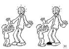 Coloriage cherchez les différences - fêtes des pères
