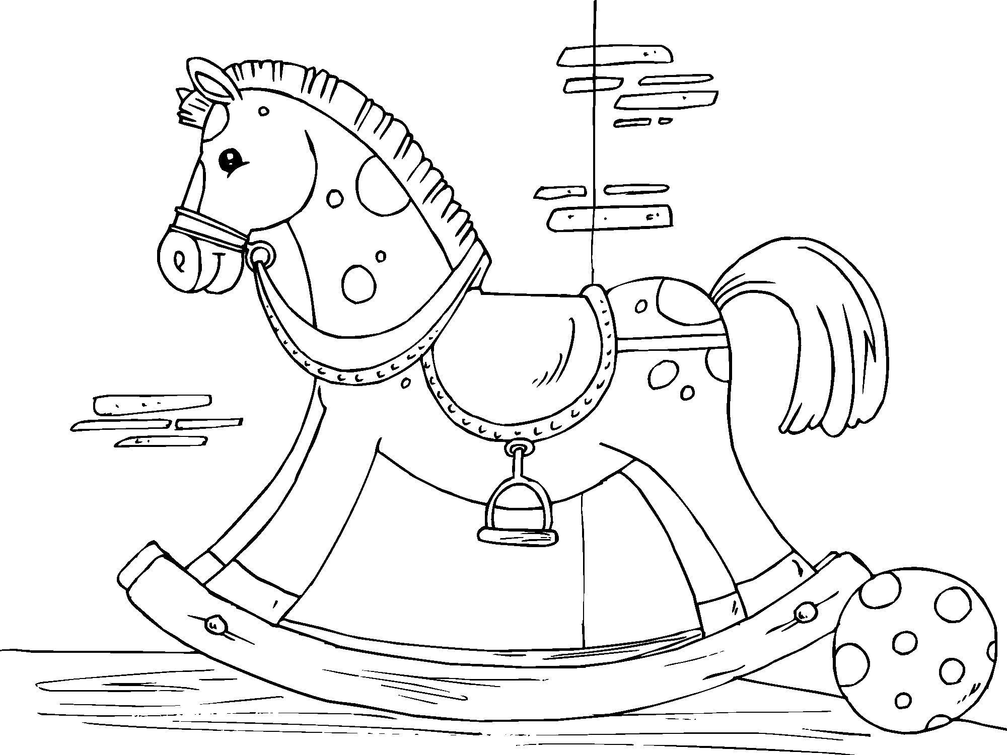 Coloriage cheval à bascule - img 22825 Images