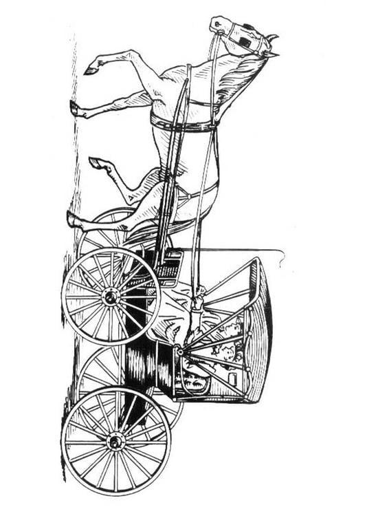 Coloriage Cheval Avec Carrosse Img 18982
