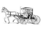 Coloriage cheval avec carrosse