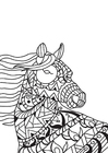 Coloriage cheval dans le vent