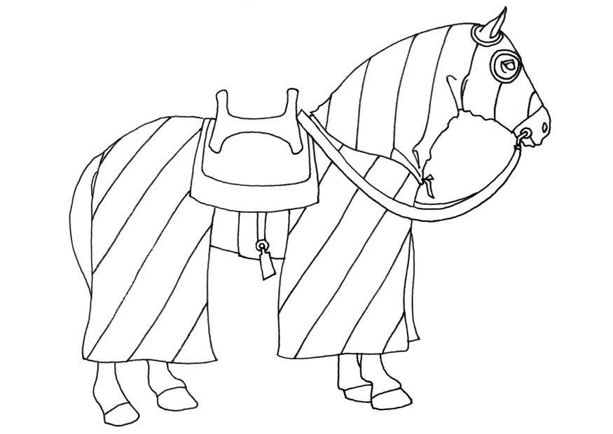 Coloriage cheval img 20656 - Dessin moyen age ...