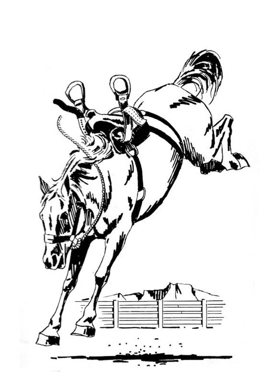 Coloriage Cheval Qui Gambade Img 19138