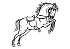 Coloriage cheval sotant
