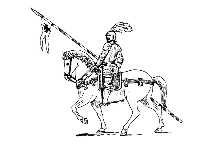 coloriage chevalier a cheval i9072