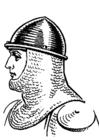 Coloriage chevalier avec heaume