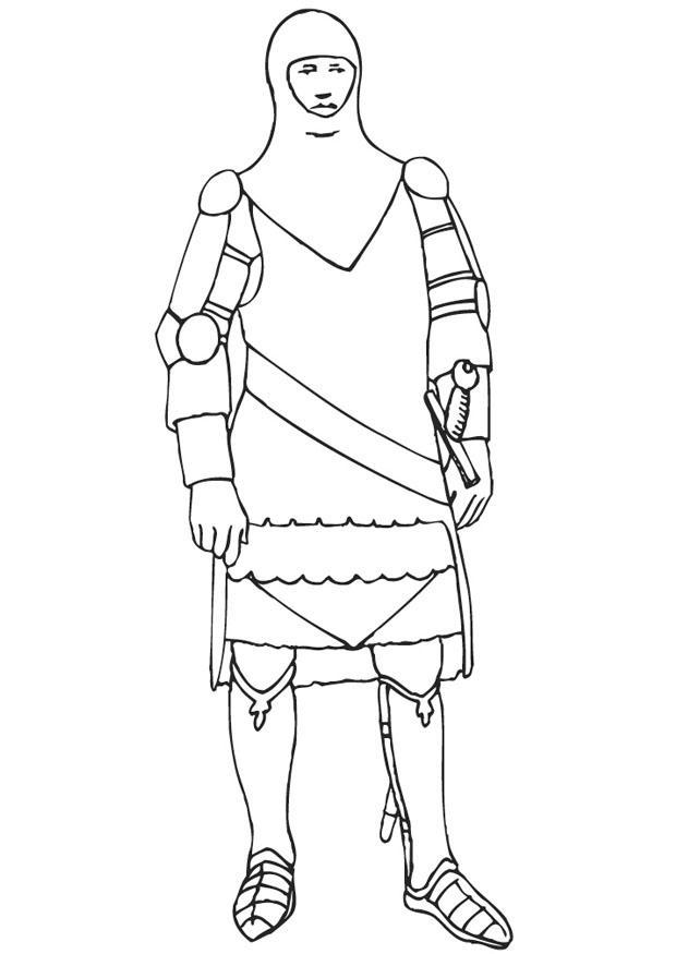 Coloriage Armure Chevalier.Coloriage Chevalier Avec Son Armure Img 9443