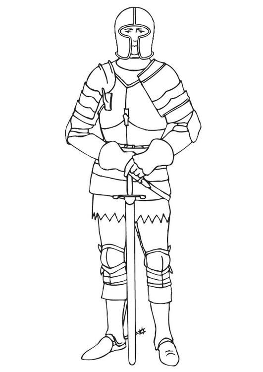 Coloriage chevalier avec son armure img 10649 - Dessin armure ...