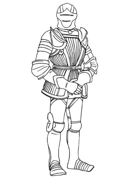 Coloriage chevalier avec son armure img 9410 - Dessin armure ...