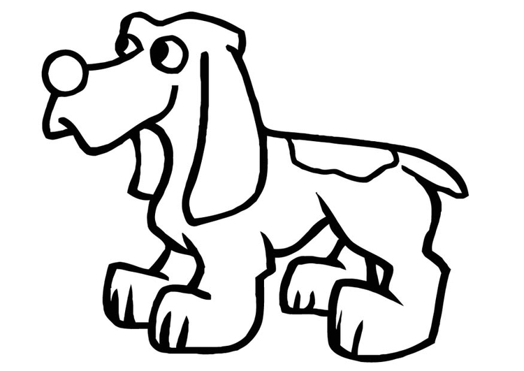 coloriage chien - Coloriage Chien