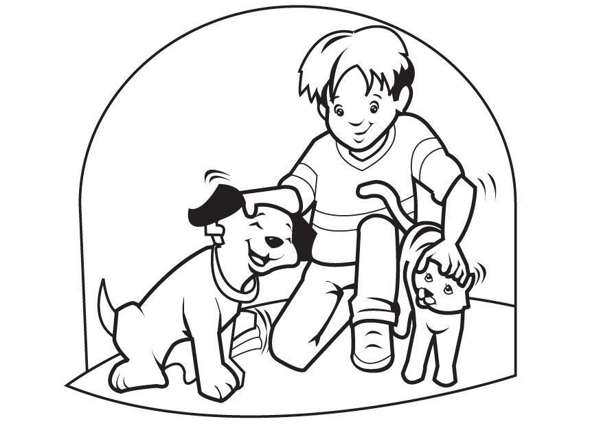 Coloriage chien et chat - Coloriages Gratuits à Imprimer