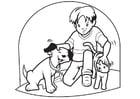 Coloriage chien et chat