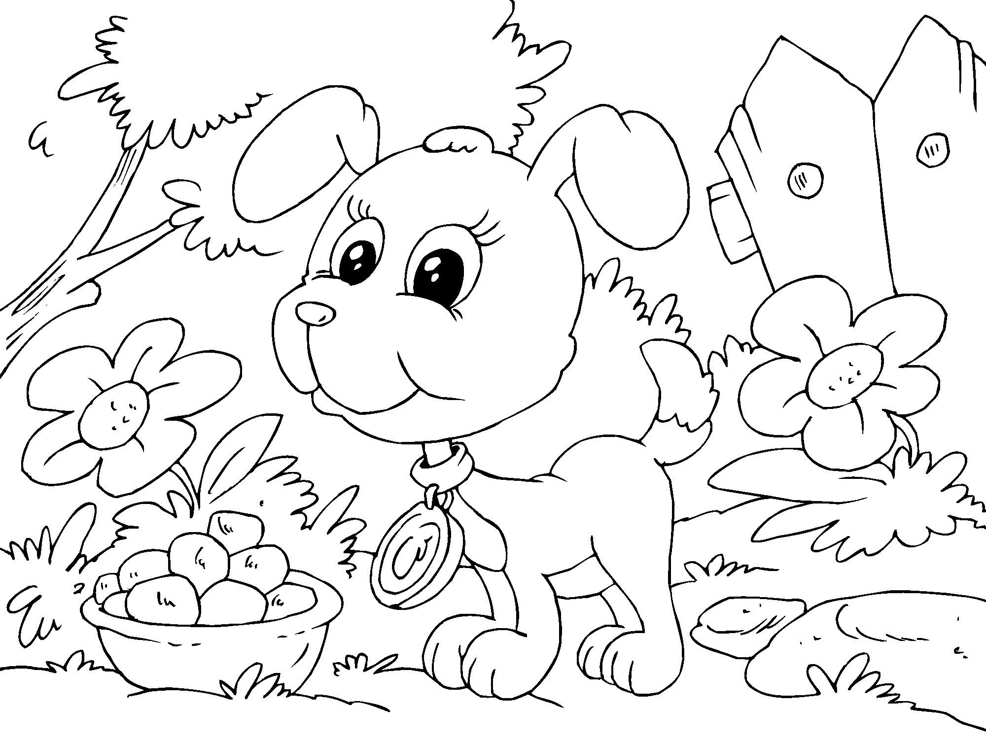 Coloriage chiot img 22682 - Chiot coloriage ...