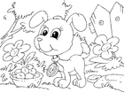 Coloriage chiot
