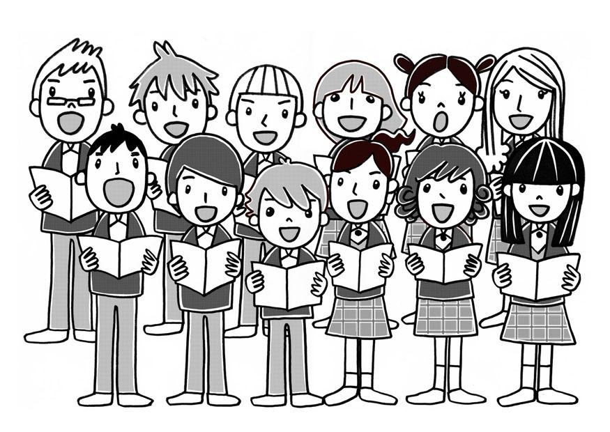 coloriage chorale img 22803 free bible clip art miracles free bible clip art psalms
